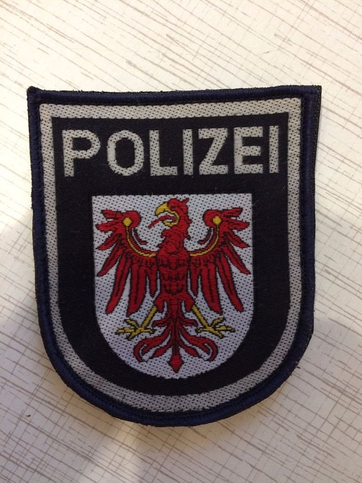 Germany Police Patch Brandenburg Deutschland Polizei 100% Original Rarity  | eBay