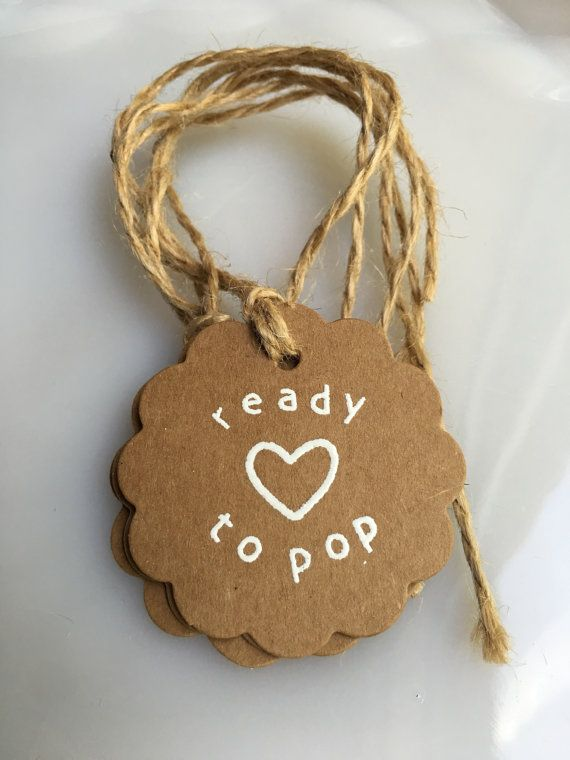Ready to Pop Baby Shower Party Favor by PonderosaPartyFavors