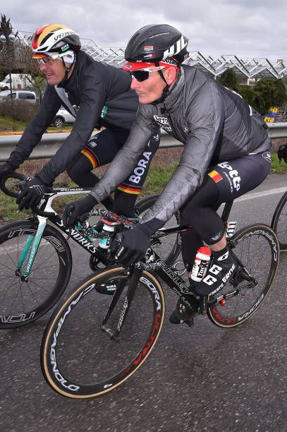 Andre Greipel of Germany and Team Lotto Soudal   Marcus Burghardt of  Germany and Team BoraHansgrohe   during the 109th MilanSanremo 2018 a 291km  race. eeab65b83