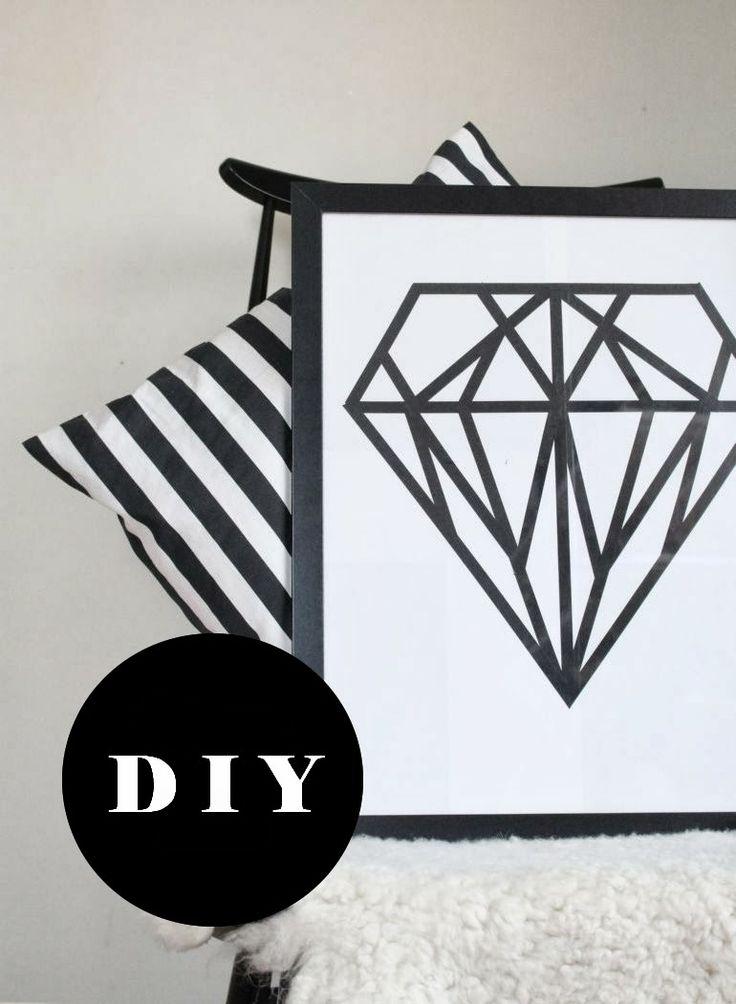 nurin-kurin: DIY: Diamond poster