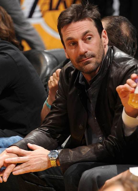 Jon Hamm and his Omega Bond GMT watch