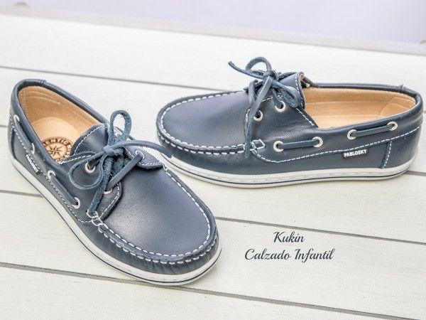 Mocasines cordón marino Pablosky zapatos niño - mocasines - náuticos - calzado infantil - calzado juvenil - zapateria niños on line