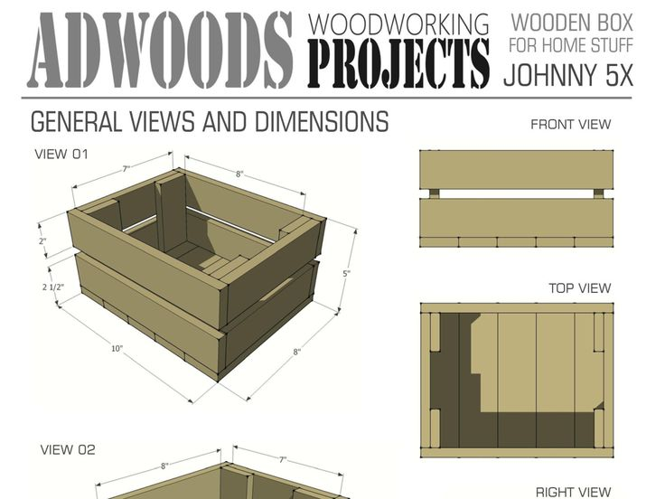 Wooden Box For Home Stuff Woodworking Plans & Projects PDF