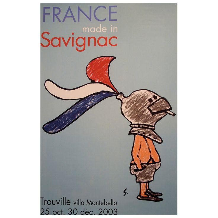 Original 2003 Raymond Savignac Poster, France Made In Savignac