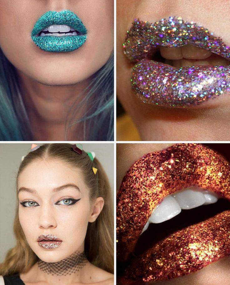 Batom de glitter, uma trend super ousada para usar e abusar do brilho nesse carnaval!