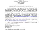 Merrill Lynch B.V. Files Half-Yearly Financial Report