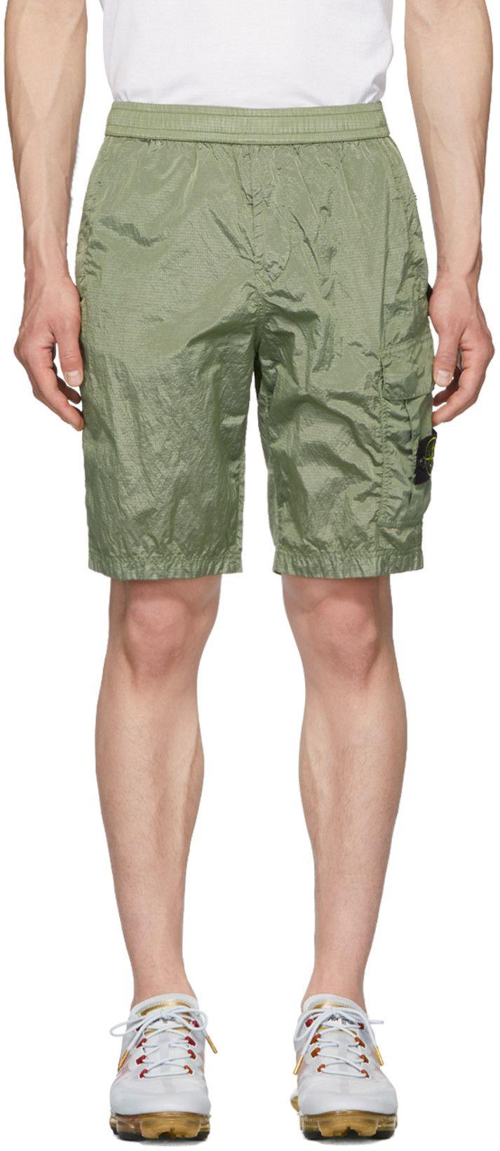 Stone Island Green Bermuda Shorts Ssense Stone Island Clothing Stone Island Bermuda Shorts