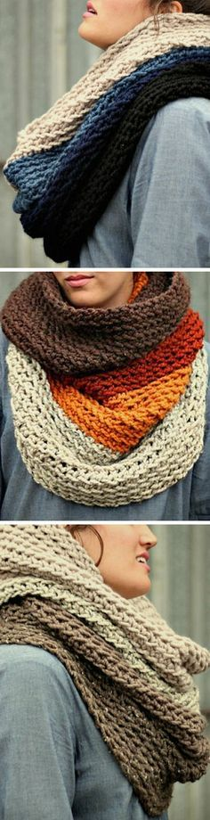 Ombré Cowl Neck Scarf Inspiracion ♥ HOWEVER, if you want to purchase one directly from this beautiful lady... follow the link.
