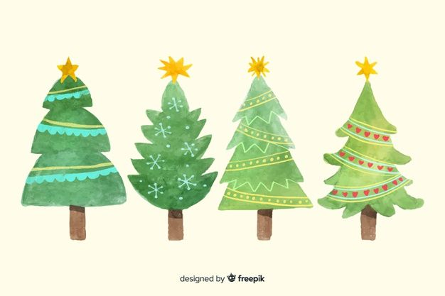 Download Watercolor Christmas Tree Collection For Free