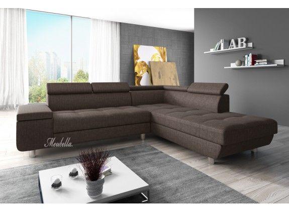 Hoekbank Destiny is een designbank die geschikt is voor ieder type interieur. De bank is voorzien van een lang lounge gedeelte en ruim zitvlak. De Destiny biedt een uitstekend zitcomfort door zijn stevige kussens en rugleuning, en de verstelbare hoofdsteunen. De hoekbank is bekleed met een sterke stof in een bruine kleur. Dit type is ontzettend onderhoudsvriendelijk en gaat jarenlang mee.