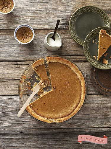 Pumpkin Pie with Cream from Sarah Wilson's best-selling I Quit Sugar cookbook. Pre-order your US copy today!