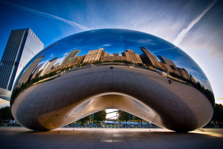"""""""Chicago, Cloud Gate portrait"""" by alierturk"""