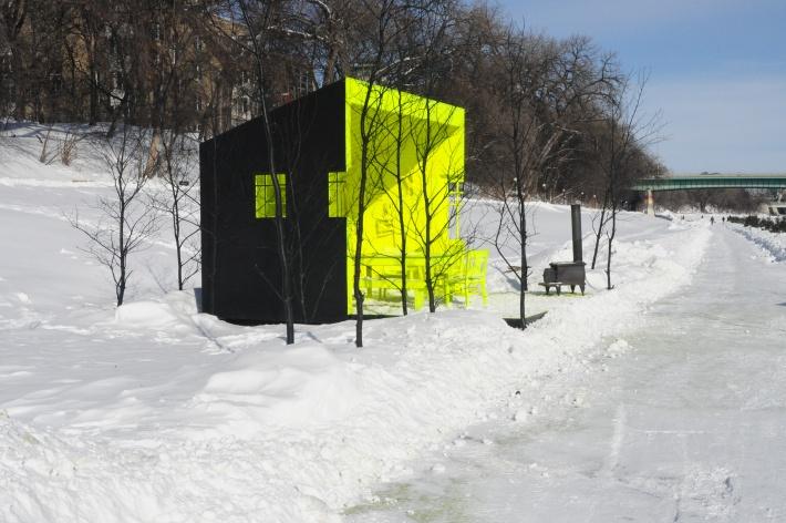 """Warming Hut"" on the Assiniboine River Trail"