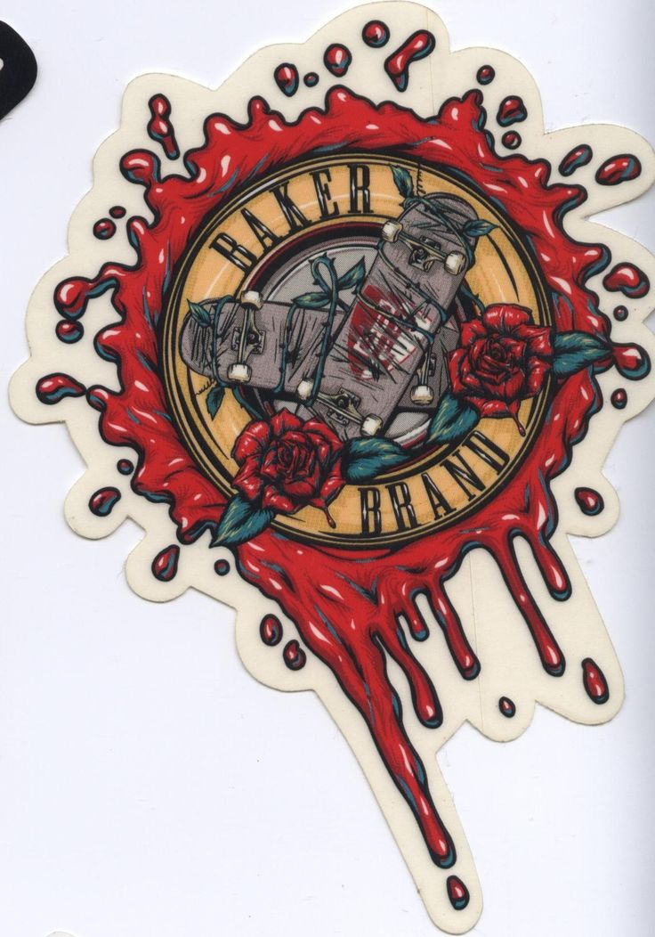 Baker skateboards boards n roses sticker guns n roses click on picture to