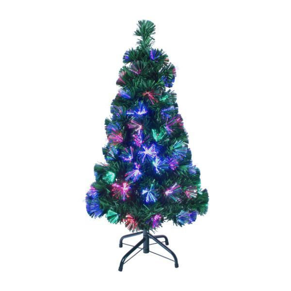 Christmas Workshop 90cm/3ft Fibre Optic Artificial Christmas Tree Green 100  Tips | Christmas Trees