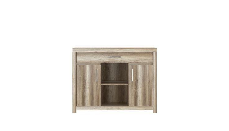 Trzecia propozycja komody z kolekcji IMOLA- tym razem z dwiema szafkami, szufladą i półkami. Pochodzi z http://www.forte.com.pl/meble/typy/komoda.html