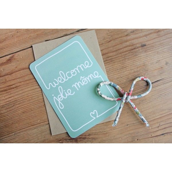 Carte felicitations naissance originale