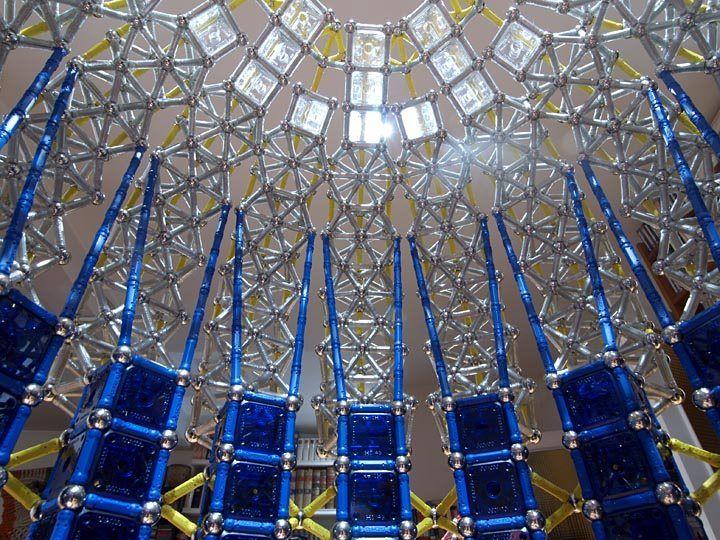 GEOMAG constructions: Main dome of the Taj Mahal to scale 1:50, inside. textodigital.com