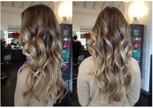 Beachy waves. Color by Neil George Salon colorist Lindsay Rivera. Cut and Style by Anh Co Tran.