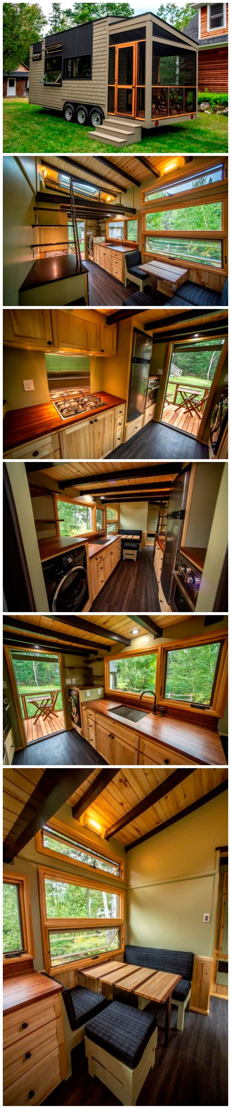 Amazing, 25 foot tiny house on wheels with screened in porch, for sale !!!