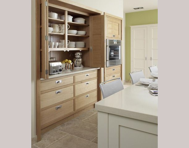 Appliance Cupboard...I like that you can hide the appliances!