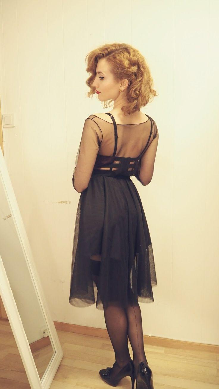 DIY Wrap Dress Tutorial - free sewing tutorial for beginners -  Inspired by Dita von Teese