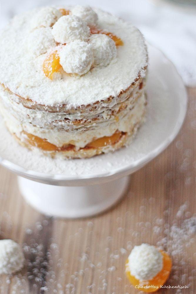 Raffaello-Kokos-Torte, Raffaellotorte, Kokostorte, Raffaello, Aprikose…