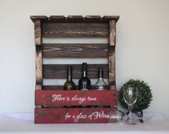 Wood Wine Rack  Pallet wine rack  Wine rack  by TinHatDesigns