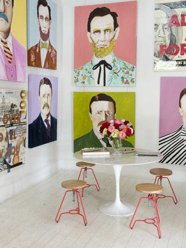 Step Inside Ashley Longshore's Pop-Chic Art Studio