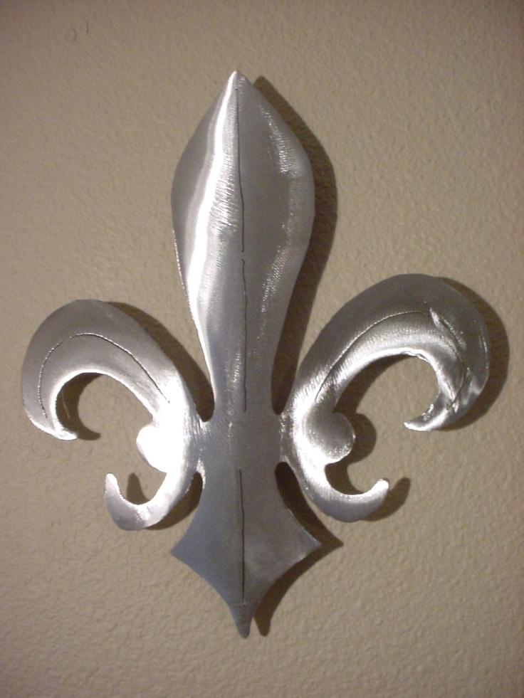 Fleur De Lis New Orleans Saints Metal Wall Art Steel Fluer Etsy Metal Wall Art Wholesale Decor Fleur De Lis