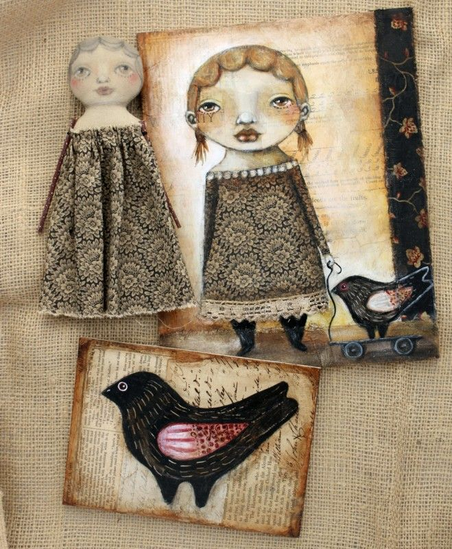 Urban Folktales by Karen O'Brien. Her blog is amazing. Her Art is amazing.