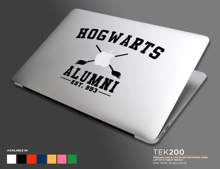Hogwarts collegiate style logo macbook sticker harry potter die cut vinyl decal for macbook air