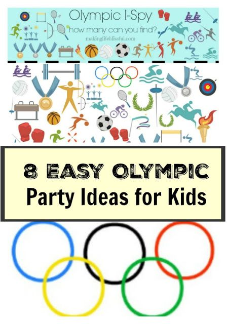 Making Life Blissful: 8 Easy Olympic Party Ideas for Kids