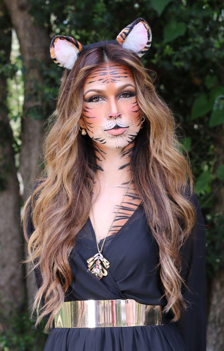 CABELO E DIADEMA-----Tiger Face - Tiger Costume