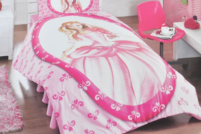 Pink princess Duvet set available from Sesli Textiles