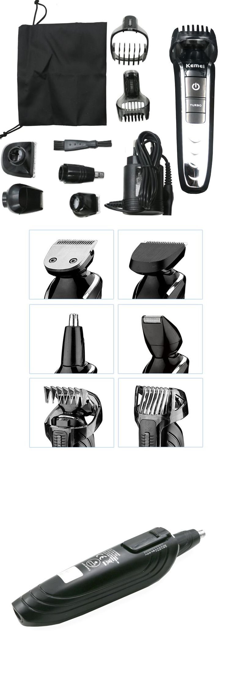 [Visit to Buy] Kemei 5 in1 Rechargeable Waterproof Trimmer Hair Clipper Trimer Shaver Beard Nose for Men Family Use High Quality #Advertisement