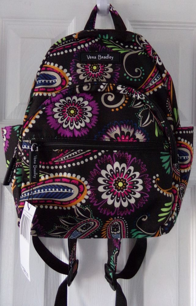 bb7bc0c3a1 NWT AUTH. NEW VERA BRADLEY CANVAS BANDANA SWIRL COMPACT BACKPACK ...