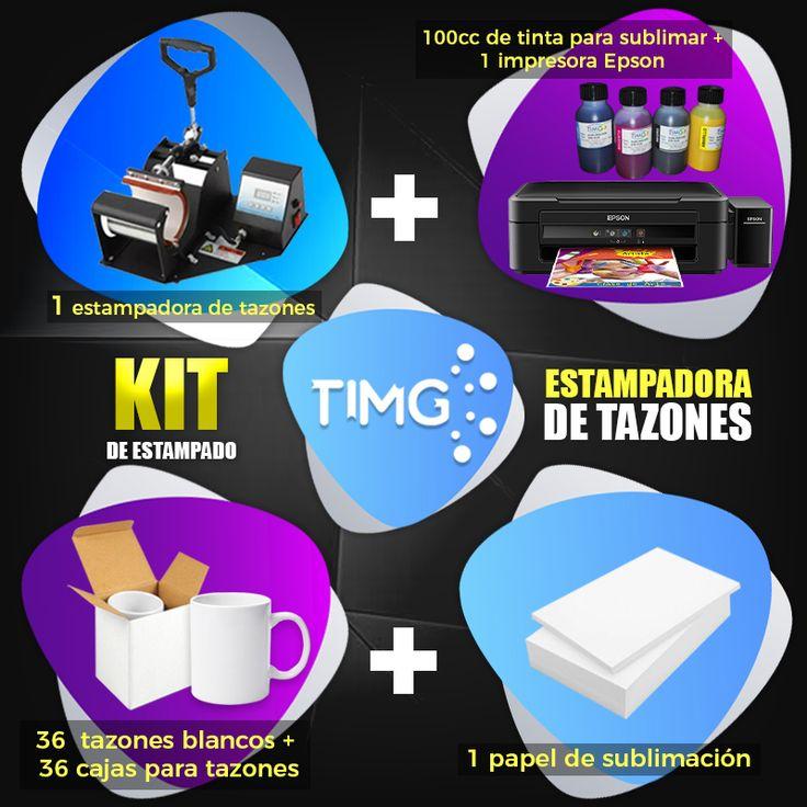 En #TiendasTIMG nos encantan las promociones especiales. ¡Aprovecha nuestros Kits perfectos! Obtén con nuestro #KitTIMG de estampado. 1 estampadora de tazones 1 impresora Epson 100cc de tinta para sublimar 1 papel de sublimación 36 tazones blancos 36 cajas para tazones Visítanos en www.suministro.cl para saber más de nuestros productos en promoción.