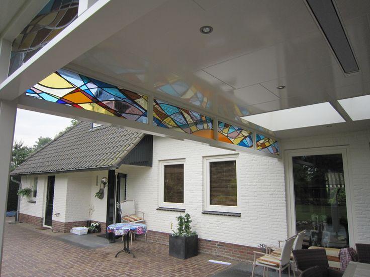 Geert Cooijmans - Bovenlichten veranda  2011 ::  Glassartist | Eindhoven |Stainedglass | Glas in Lood