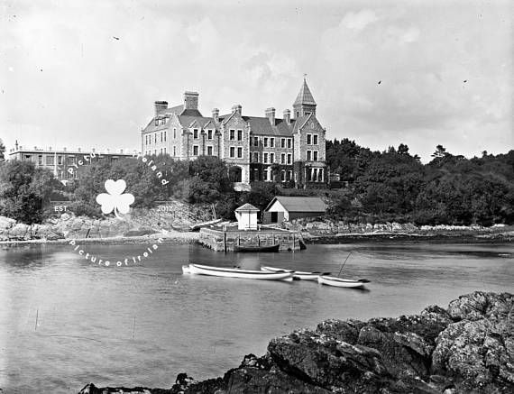 Great Southern Hotel Sneem Kerry Ireland c.1860 ANTIQUE Photo