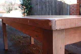 Recycled lime washed Oregon farm style dining table