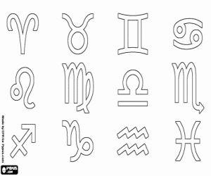 Resultado de imagen para simbolos de los signos del zodiaco