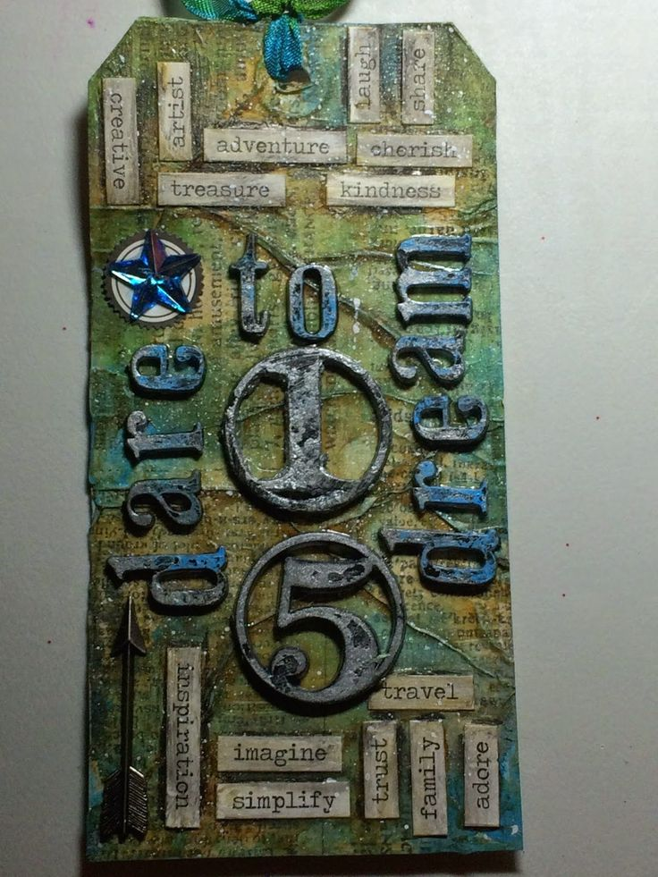 The Journey Awakens the Soul...: 2015 Dare to Dream  Tim Holtz 12 Tags of 2015 Janu...