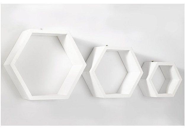 Set: Wandregal (3 Stck.) für 26,99€. Moderne Wandregale, Drei einzelne Elemente…