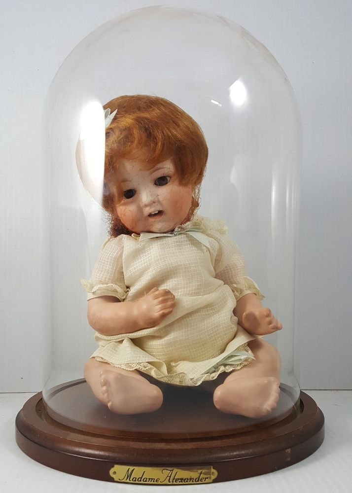 Antique MADAME ALEXANDER Bisque BABY DOLL with Display Case RE Made in NIPPON #MadameAlexander #Dolls