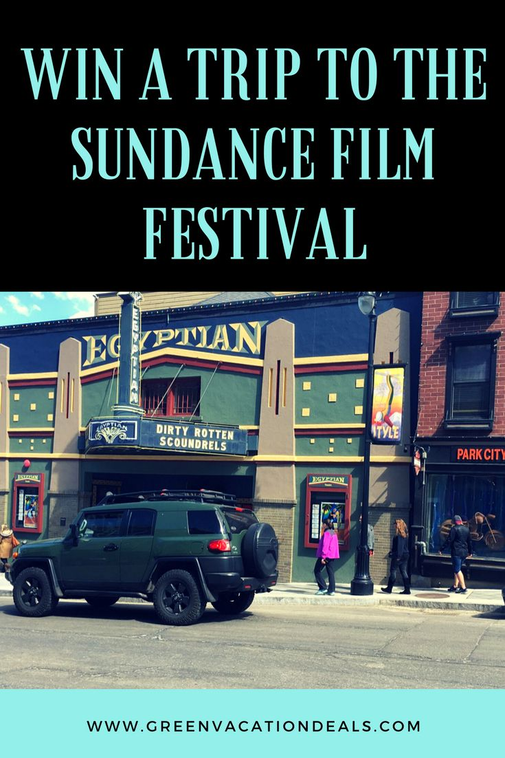 Sundance Film Festival Sweepstakes - win a trip to Salt Lake City, ski in Park City, and attend the Sundance Film Festival! Salt Lake City travel giveaway.