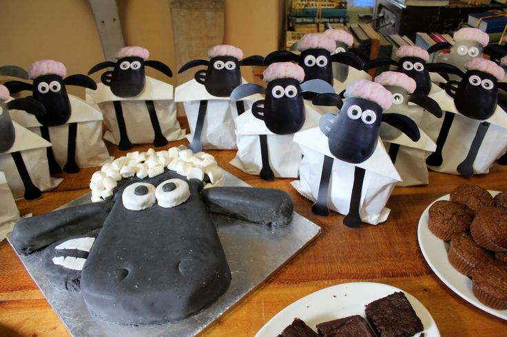 shaun the sheep party - with free printable for the party pack