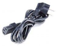 Stromkabel / Netzkabel / Kaltgerätekabel 10A für PC, Server, Drucker uvm. beige/schwarz