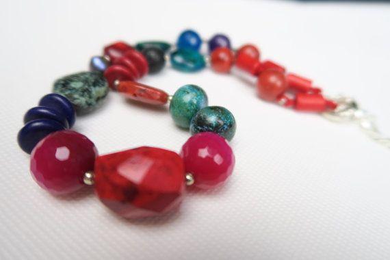 Boho Style Fashion Chic Jewelry Chunky semi precious stone necklace
