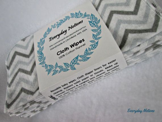 15 Ready to Ship Grey Chevron Cloth Flannel by EverydayNotions4You